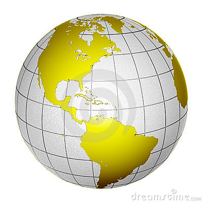 Planet Globe Earth 3D isolated