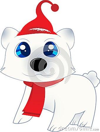 Isolated Polar Bear