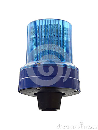 Isolated Police Light