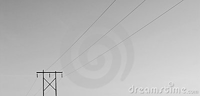 Isolated Powerline B/W