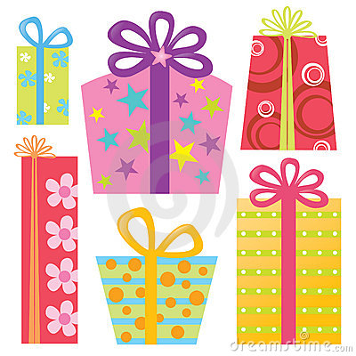 Free Isolated Presents/Gifts Set Royalty Free Stock Photos - 9083268
