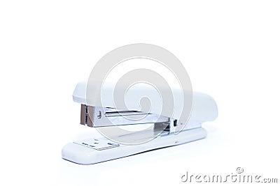 White stapler isolated on white background