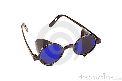 Isolated protective retro eyeglass