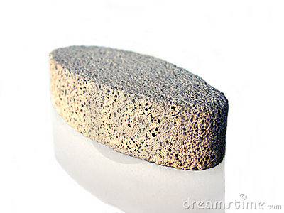 Isolated Pumice Stone