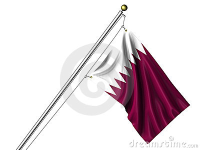Isolated Qatari Flag