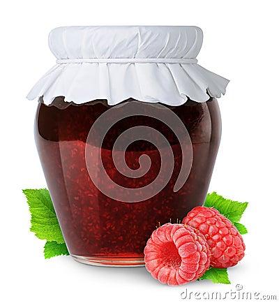 Free Isolated Raspberry Jam Stock Images - 19681044