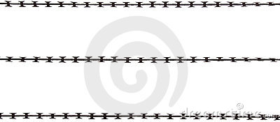Isolated Razor Wire