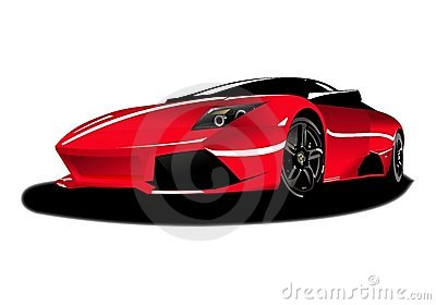 Isolated red car