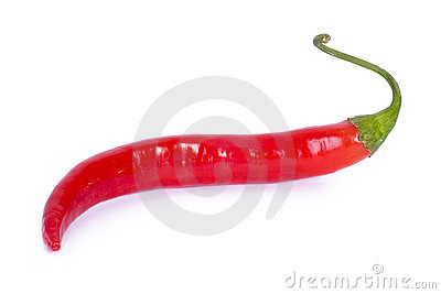Isolated red Chilli