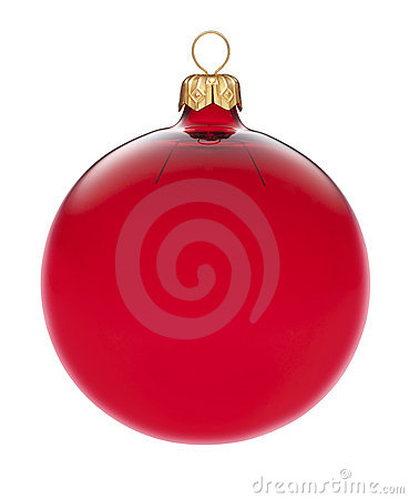 Free Isolated Red Christmas Ornament Stock Photo - 22014690