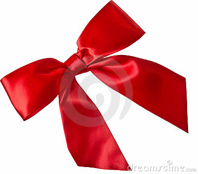 Isolated Red Ribbon bow