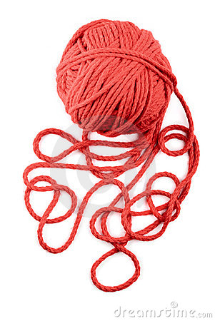 Free Isolated Red Skein Royalty Free Stock Photos - 16235608