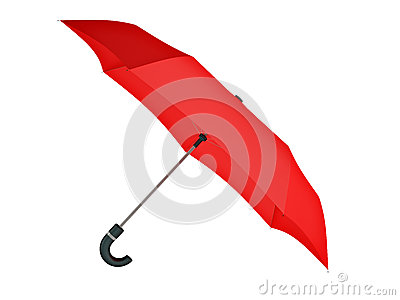 Isolated red umbrella