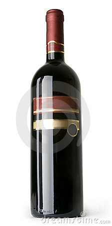 Isolated Red WineBottle