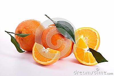 Isolated ripe orange