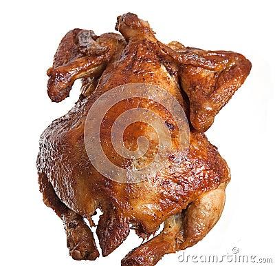 Isolated roasted  hen