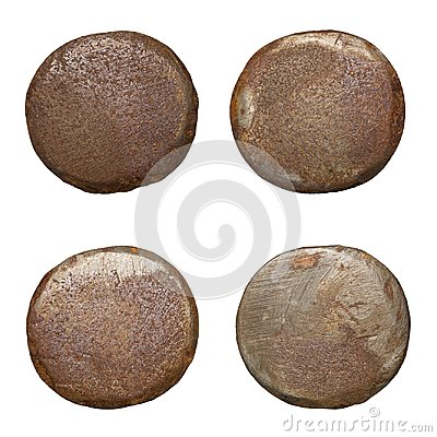 Free Isolated Rusty Nail Heads Stock Photography - 102225292