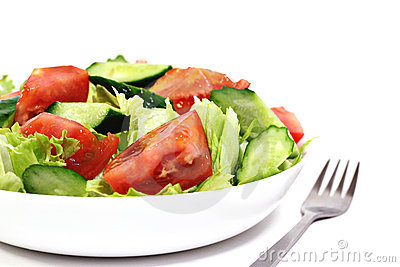 Isolated salad