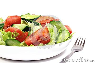 Isolated salad