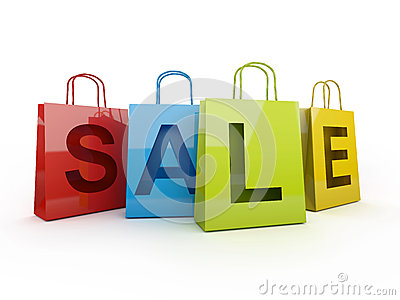 Isolated sale on with clipping path