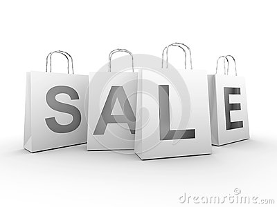 Isolated sale with clipping path
