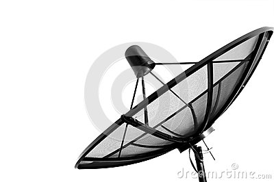 Isolated with Satellite Dish.