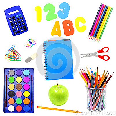 Free Isolated School Supplies Stock Image - 25770231