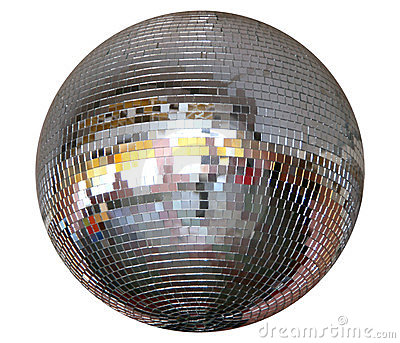 Isolated silver night club mirror-ball