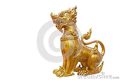 Isolated singa , mythical lion