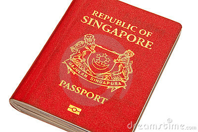 Singapore Passport Picture on Stock Image  Isolated Singapore Passport  Image  15094471