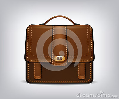 Isolated single briefcase