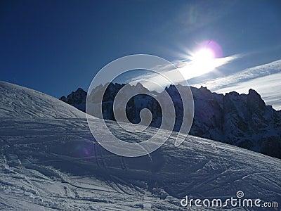 Isolated ski run