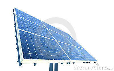 Isolated solar panel