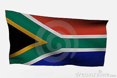 isolated South Africa 3d flag