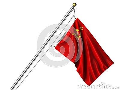 Isolated Soviet Flag