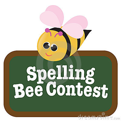 Free Isolated Spelling Bee With Sign Stock Photo - 9945890