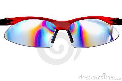 Isolated Sports Glasses