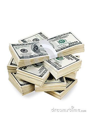 isolated stacks of money stock photos image 16178633