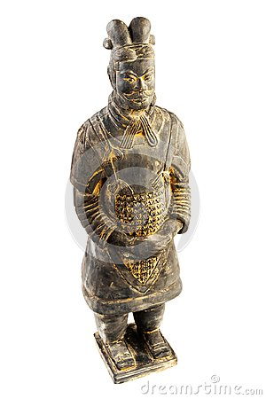Free Isolated Statuette Terracotta Warrior On A White Background Royalty Free Stock Photo - 124488445