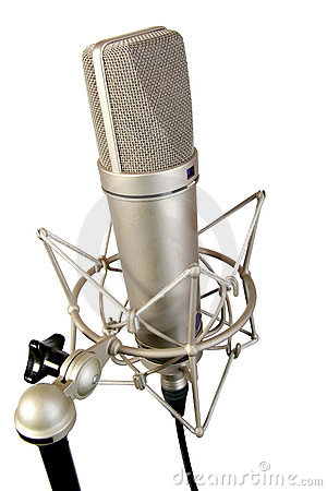 Free Isolated Studio Microphone Royalty Free Stock Photos - 5422278