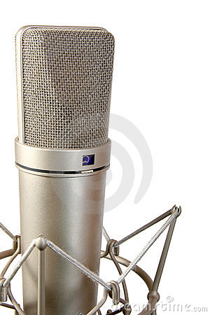 Free Isolated Studio Microphone Royalty Free Stock Image - 5422286