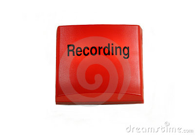 Isolated studio recording sign