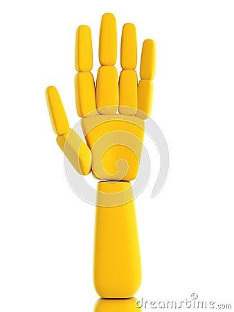 Isolated symbolic human hand