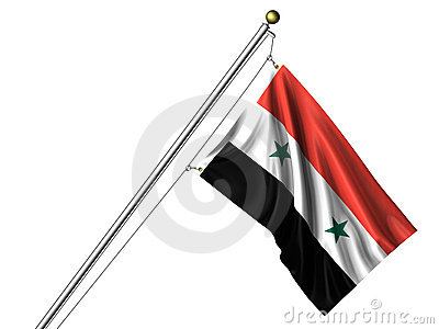 Isolated Syrian Flag