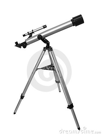 Free Isolated Telescope Royalty Free Stock Images - 677049