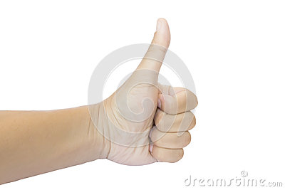 Isolated Thumb Up - Like