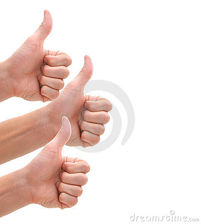 Isolated thumbs up