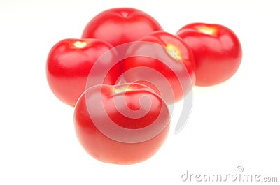 Isolated tomato
