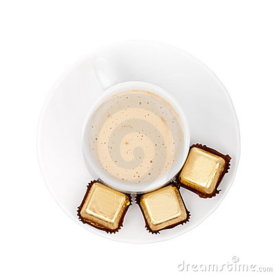 Free Isolated Top View Coffee Stock Image - 8033051