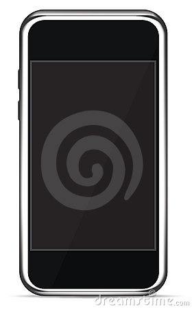 Isolated Touch Screen Smart Phone (Vector)